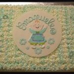 """Torta battesimo """"Fiocco azzurro"""""""