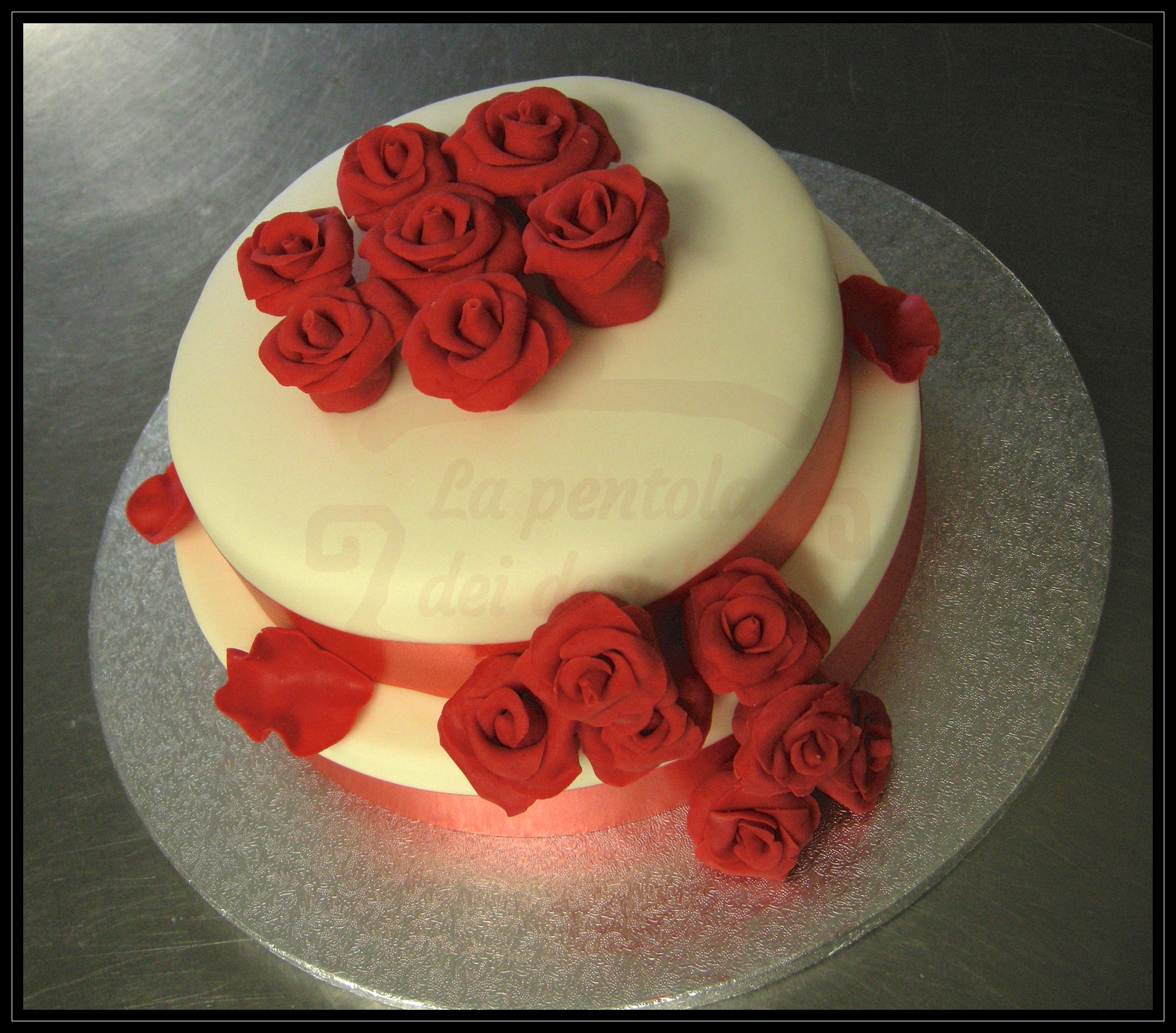 "Wedding cake ""Red rose 2"""