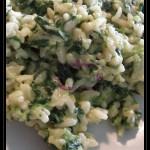 Risotto agli spinaci con crema di ricotta ai profumi aromatici