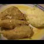 Pollo con yogurt cremoso alla banana in pentola a pressione