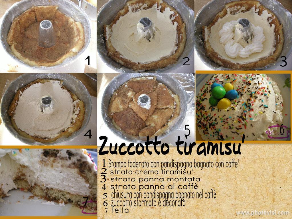 Zuccotto con crema al mascarpone e panna montata al caffè (Zuccotto tiramisù)