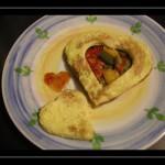 Romantico omelette con peperonata