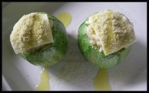 Sfera di risotto alle zucchine