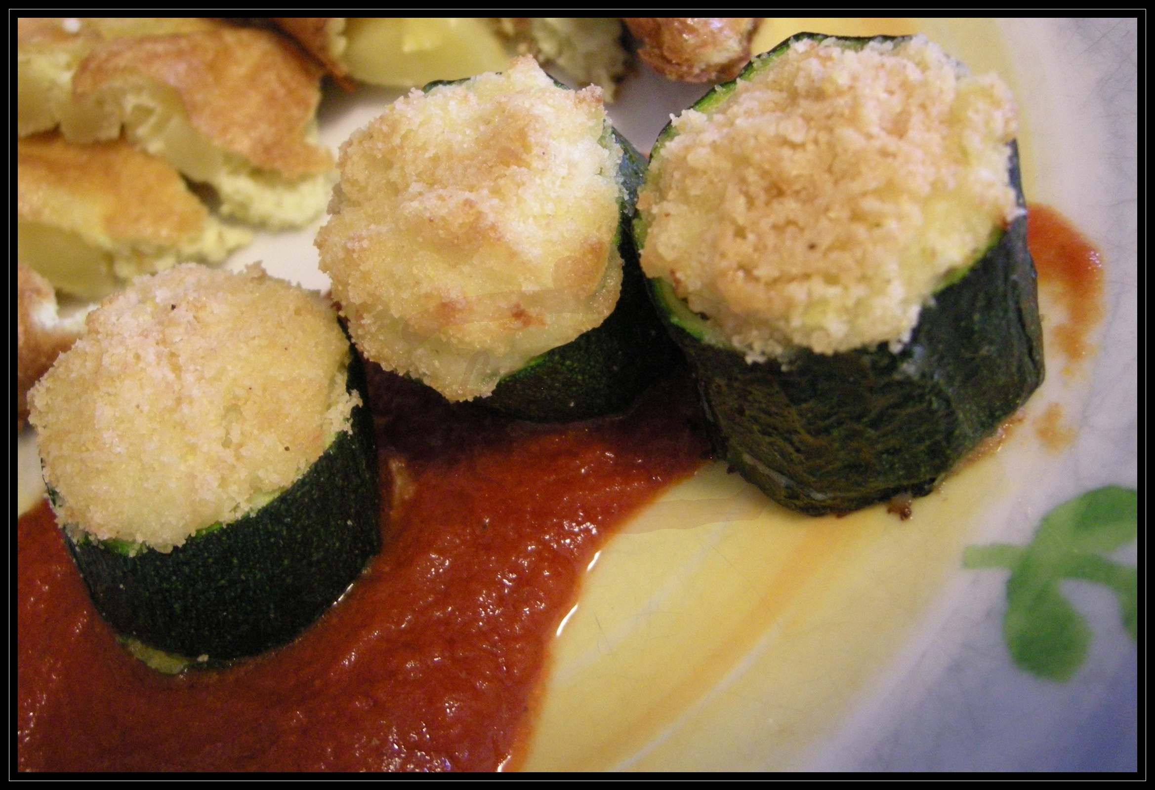 Zucchine ripiene vegetariane