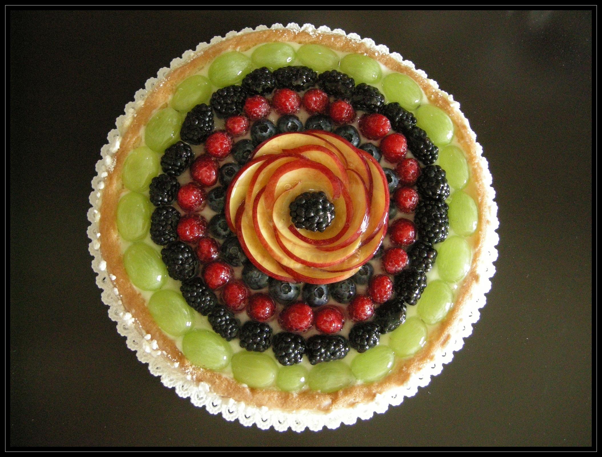 """Torta battesimo: """"Dolcezza di frutta"""""""