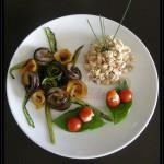 Insalatina di pollo con verdure grigliate