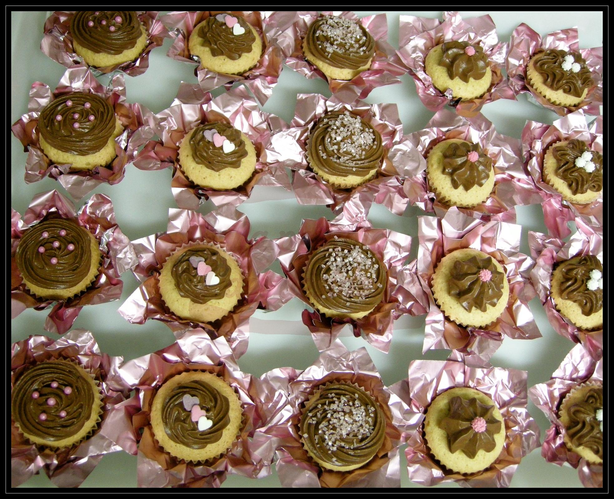 Muffin con ganache di cioccolato fondente
