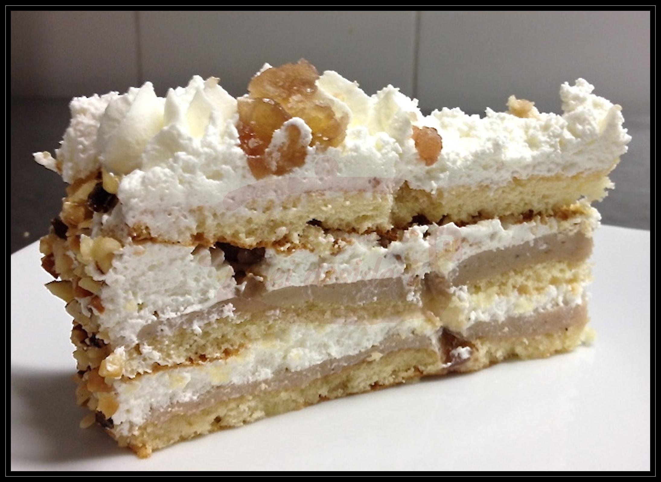 """Torta compleanno: """"Panna e marron glacè"""""""
