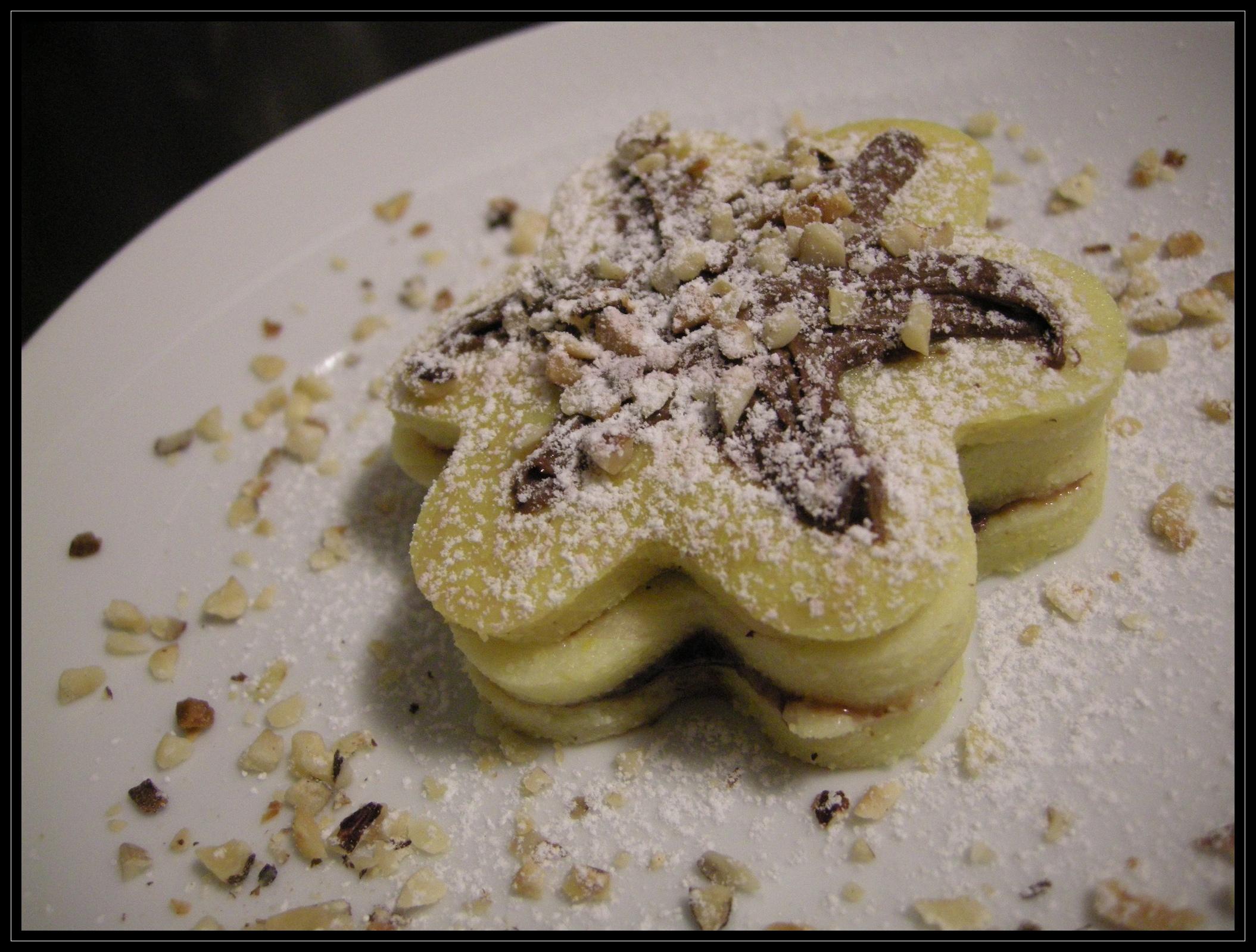 Millefoglie di polenta alla Nutella