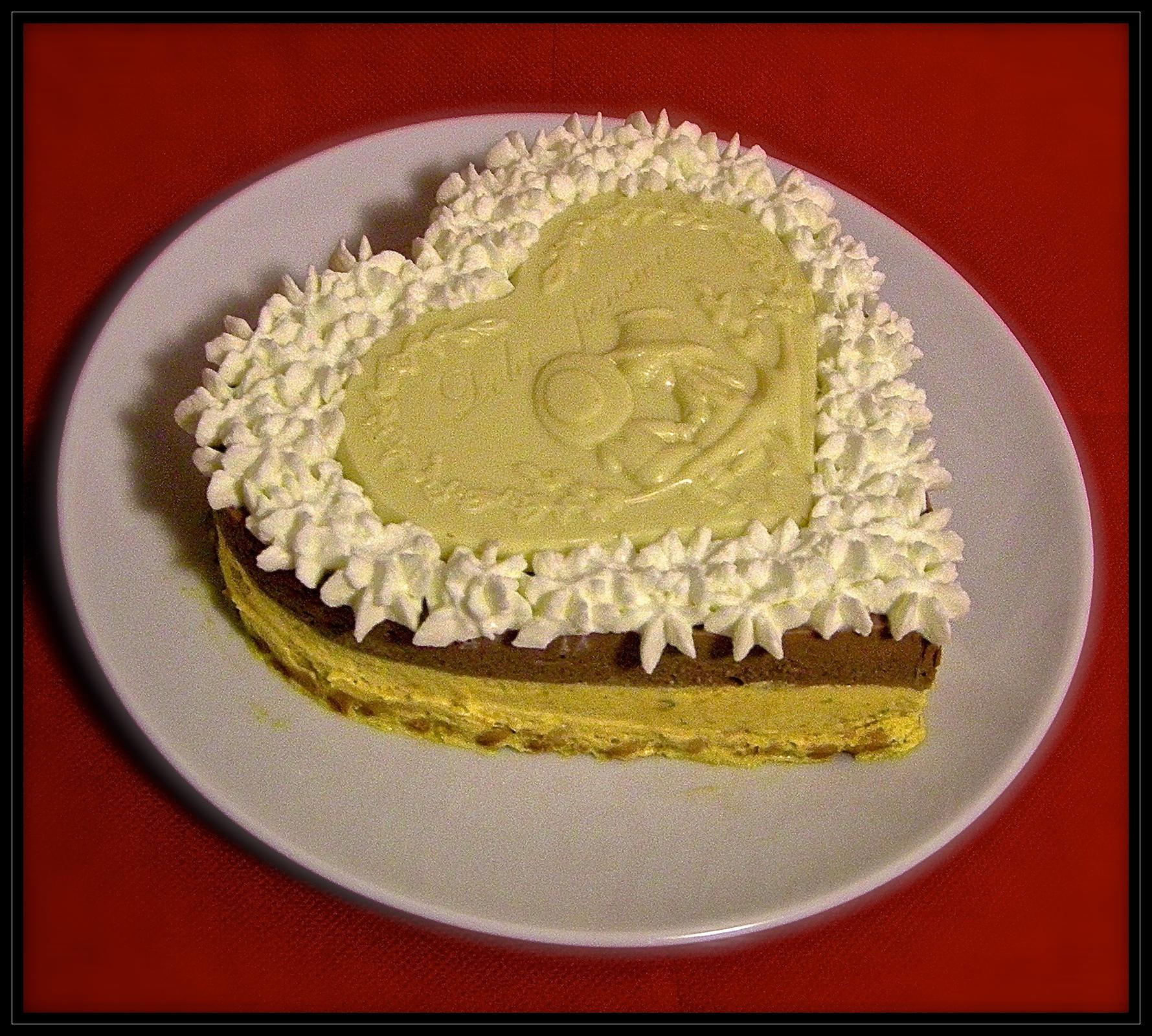 Bavarese zucca e cioccolato su crumble allo zenzero