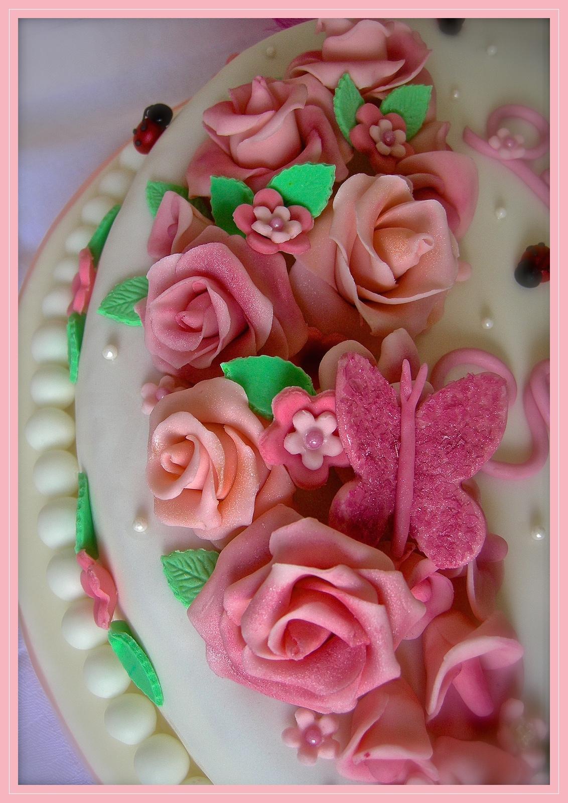 """Torta comunione: """"Fiori di maggio"""""""