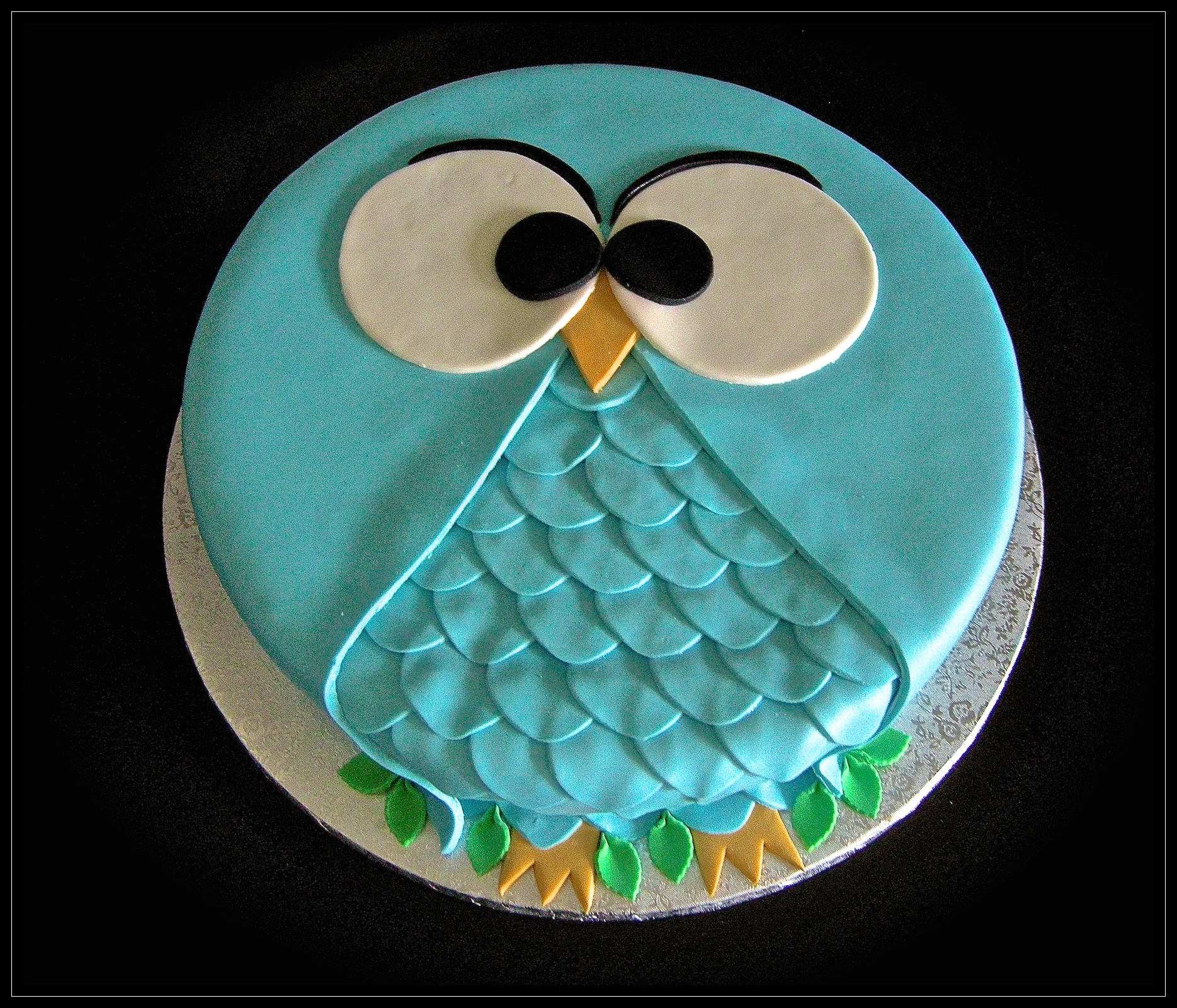 """Torta cresima: """"Il gufo azzurro"""""""