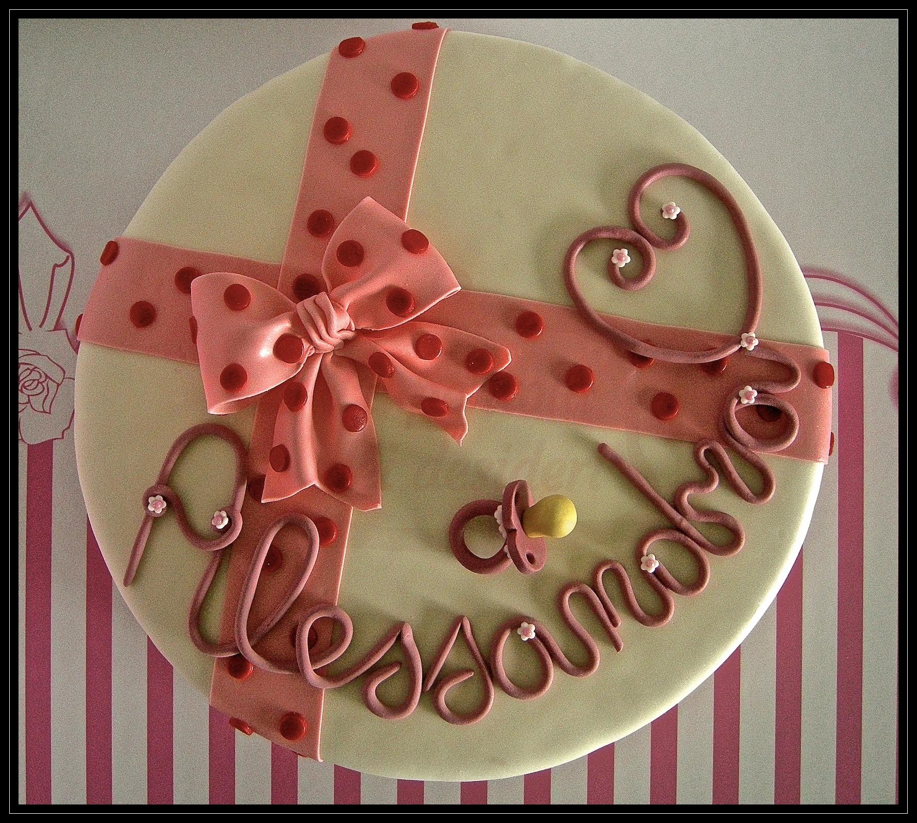 """Torta di benvenuto: """"Welcome Alessandra"""""""