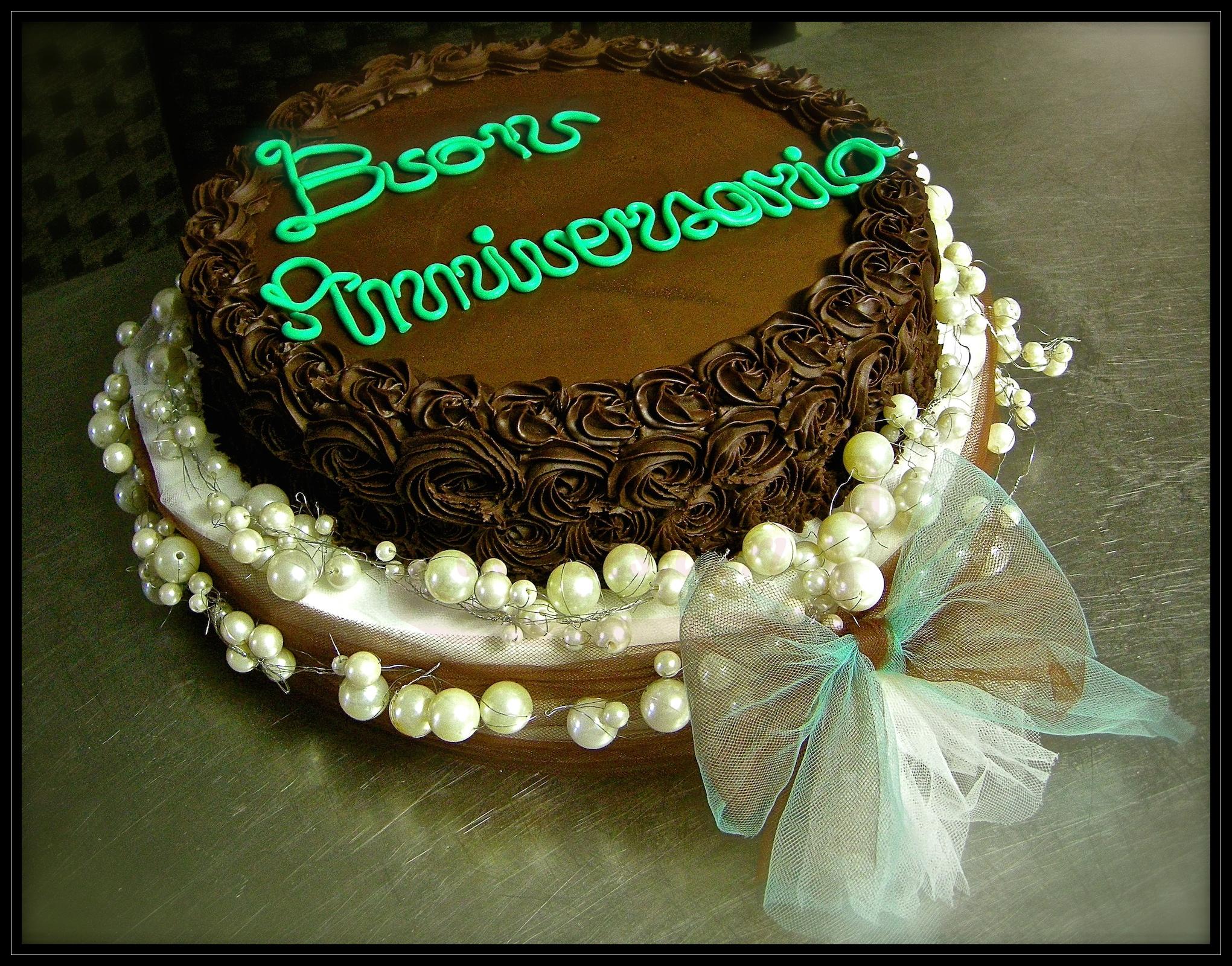 "Torta anniversario: ""Perle d'amore"""