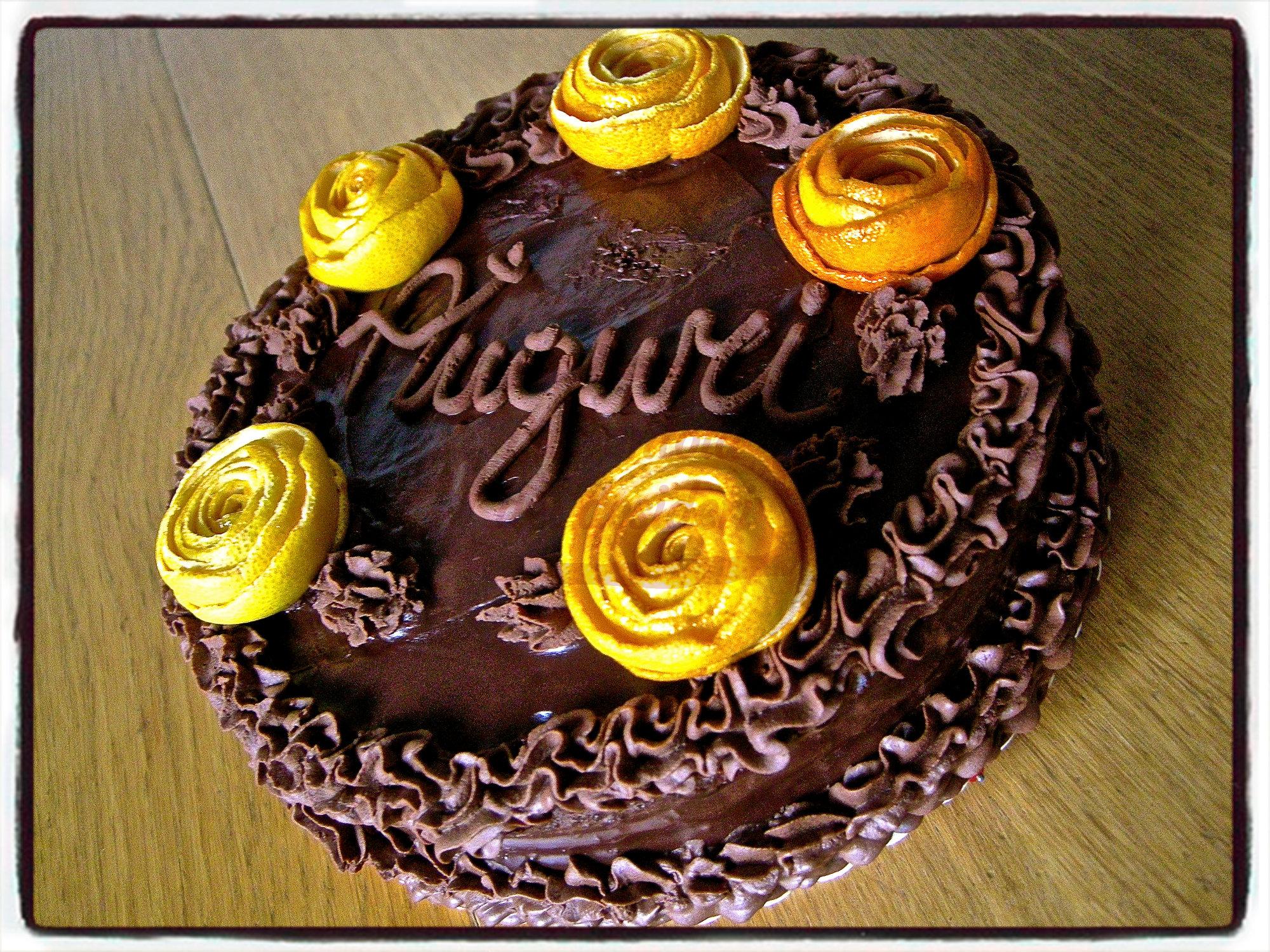 """Torta compleanno:"""" Fiori d'arancio"""""""