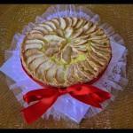 Torta al kamut con mele al moscato e crema
