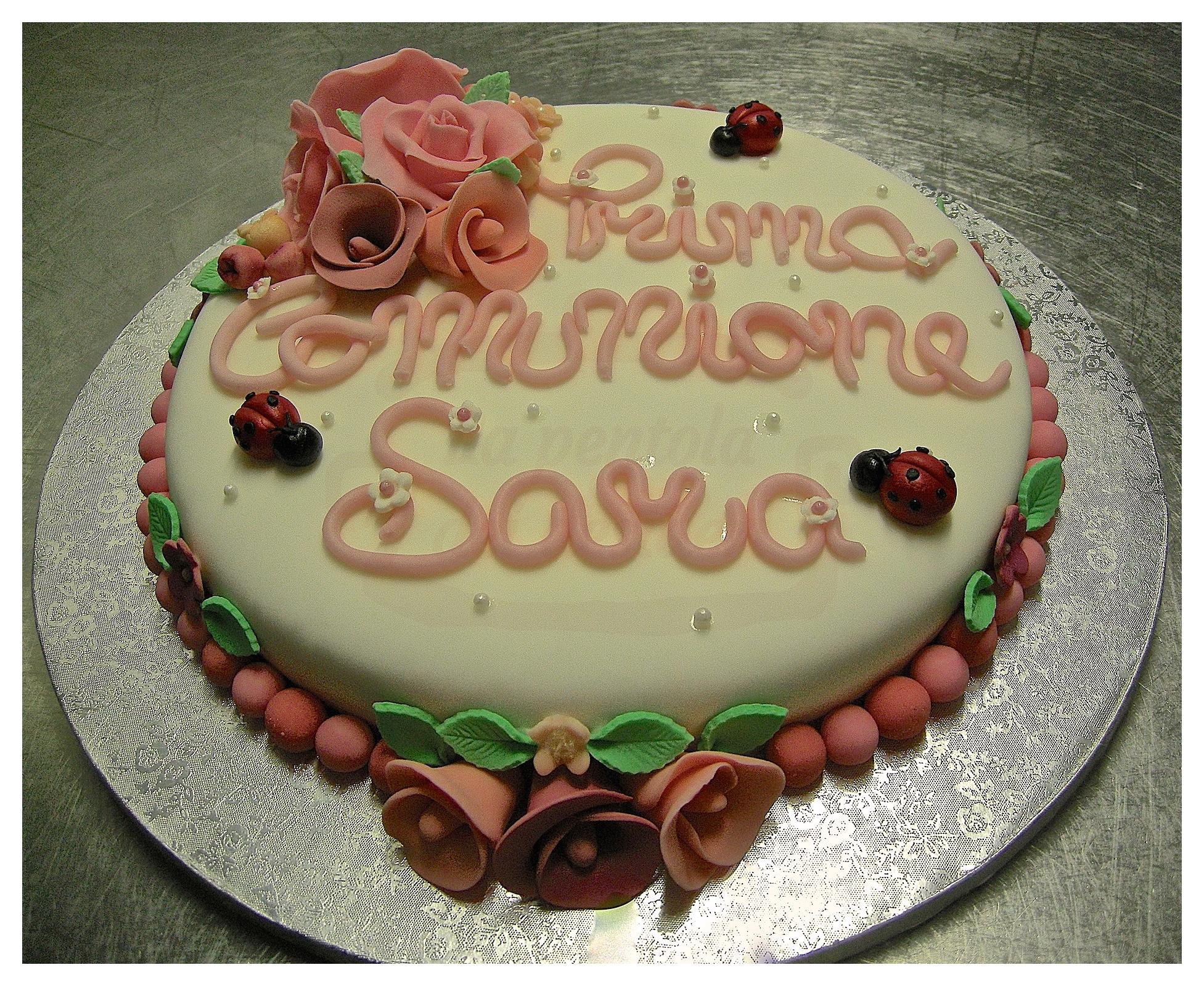 """Torta comunione: """"Fiori di maggio 2"""""""