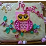 """Torta compleanno: """"Gufetto rosa"""""""