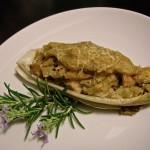 Barchette di belga, patate e salsa tonnata